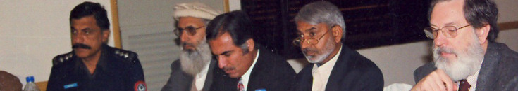 Duane at the International Seminar on Restorative Justice, 16th to 19th December 2003 at Peshawar, Pakistan