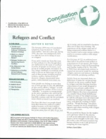 Conciliation Quarterly first page